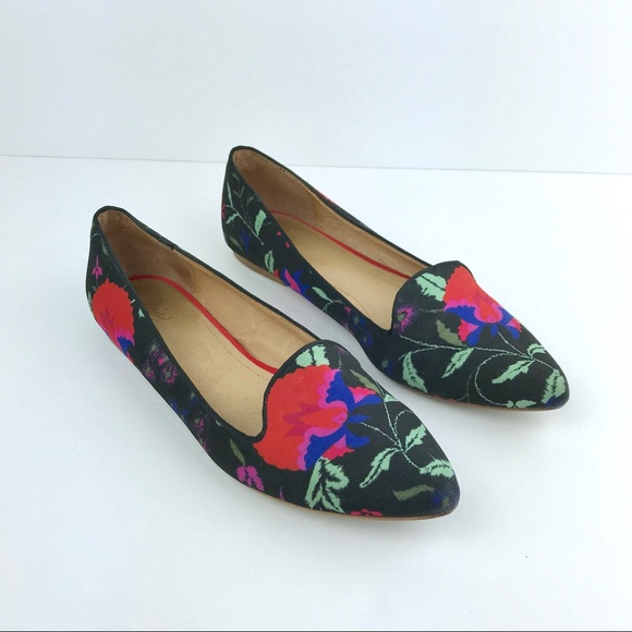 e54ab1d5f Joie Shoes   Floral Pointed Toe Smoking Flats   Poshmark